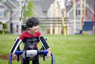 Boy with Cerebral Palsy Playing